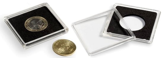 Lighthouse QUADRUM Square Coin Capsule - 14 MM (10/pack)   308571 LHC22Q14