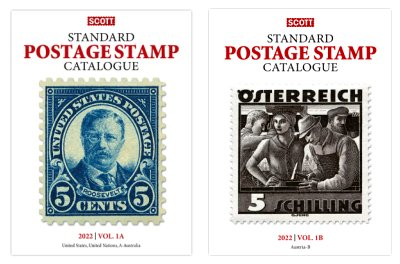 Scott STANDARD POSTAGE STAMP CATALOGUE 2022 VOLUME 1A-1B COUNTRIES USA and A-B SCCAT122