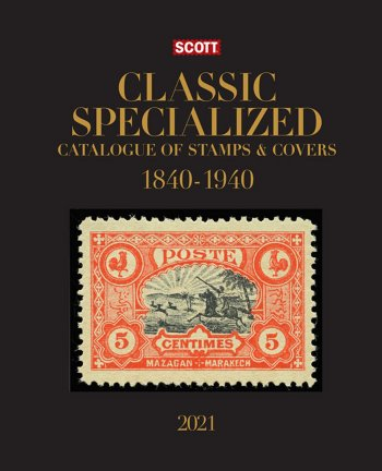 Scott STANDARD POSTAGE STAMP CATALOGUE 2021 WORLD CLASSIC (1840-1940) SCCATCL21