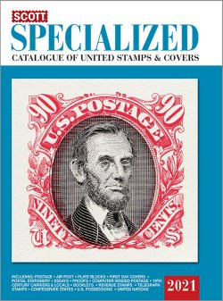 Scott STANDARD POSTAGE STAMP CATALOGUE 2021 US SPECIALIZED  SCCATSP21