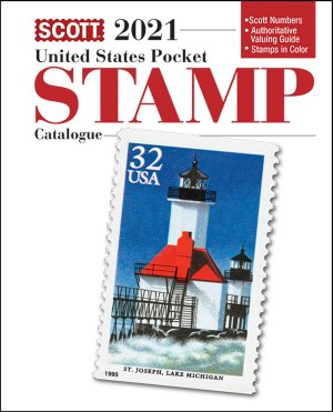 Scott US POCKET STAMP CATALOGUE 2021 SCCATUSPKT21