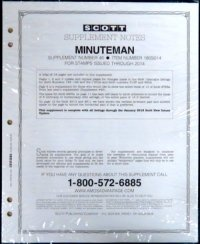 Scott US MINUTEMAN Supplement #49 2017 SCMM17