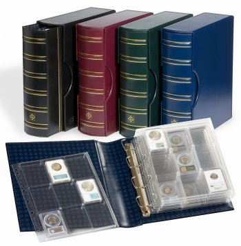 Classic Grande G binder with matching slipcase and 6 certified coin pages LHGRACLCALB