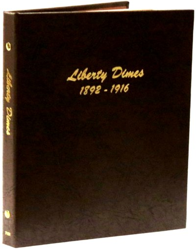 Dansco Album Liberty (Barber) Dimes 1892-1916<p><B><font size=3.5 color=red>*TEMPORARILY OUT OF STOCK*<font size=3 color=black><B><p> DN7121
