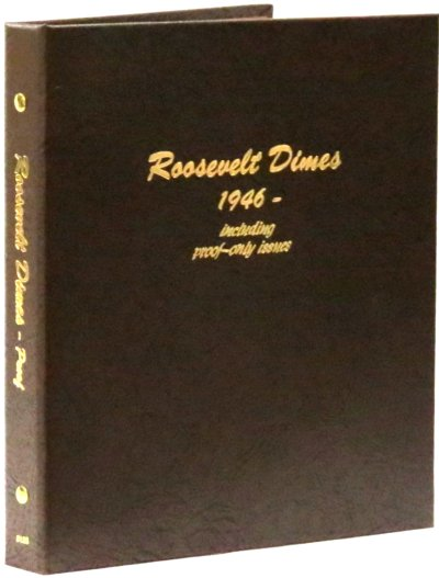 Dansco Album Roosevelt Dimes 1946-2023S including proofs <p><B><font size=3.5 color=red>*TEMPORARILY OUT OF STOCK*<font size=3 color=black><B><p> DN8125