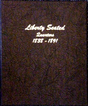 Dansco Album Liberty Seated Quarters 1838-1891<p><B>*TEMPORARILY OUT OF STOCK*<B><p> DN6142