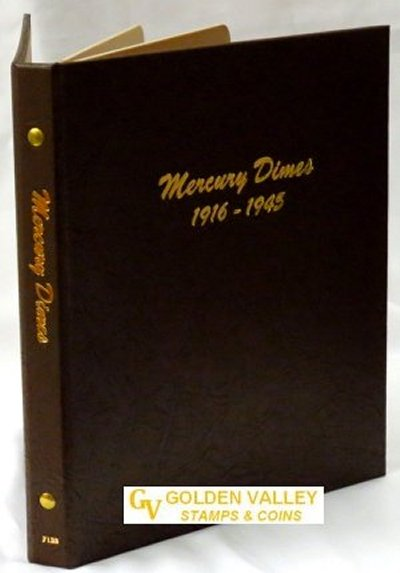 Dansco Album Mercury Dimes 1916-1945  <p><B><font size=3 color=red>*TEMPORARILY OUT OF STOCK*<font size=3 color=black><B><p> DN7123