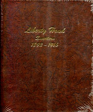 Dansco Album Liberty Head Quarters (Barber) 1892-1916  <p><B><font size=3 color=red>*TEMPORARILY OUT OF STOCK*<font size=3 color=black><B><p> DN7130
