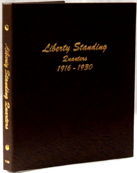 Dansco Album Liberty Standing Quarters 1916-1930  <p><B><font size=3 color=red>*TEMPORARILY OUT OF STOCK*<font size=3 color=black><B><p> DN7132