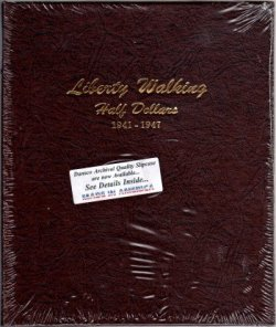 Dansco Album Liberty Walking Half Dollar 1941-1947  <p><B><font size=3 color=red>*TEMPORARILY OUT OF STOCK*<font size=3 color=black><B><p> DN7161