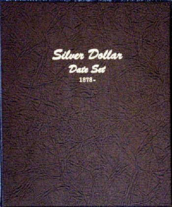 Dansco Album Silver Dollars (Morgan, Peace, Ike  SBA) date set 1878-1999 DN7172