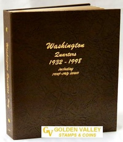 Dansco Album Washington Quarters 1932-1998 including proof<p><B><font size=3.5 color=red>*TEMPORARILY OUT OF STOCK*<font size=3 color=black><B><p> DN8140