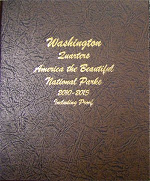 Dansco Album Washington National Park Quarters #1 2010-15 PDS  Sil Pr <p><B>*TEMPORARILY OUT OF STOCK*<B><p> DN8146