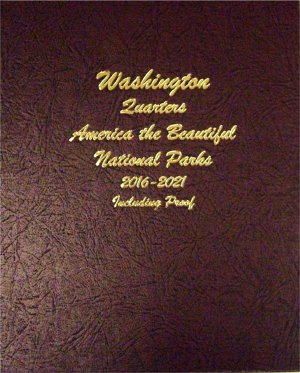 Dansco Album Washington National Park Quarters #2 2016-21 PDS  Sil Pr  DN8147
