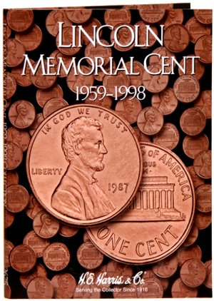 HE Harris Coin Folder Lincoln Memorial Cent, 1959-1998 HECF2675