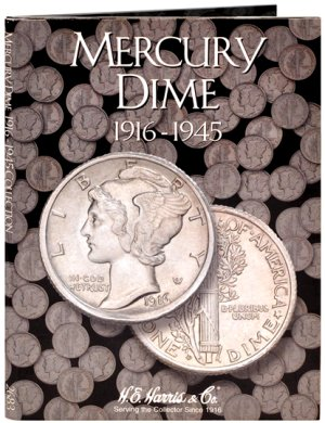 HE Harris Coin Folder Mercury Dime, 1916-1945 HECF2683