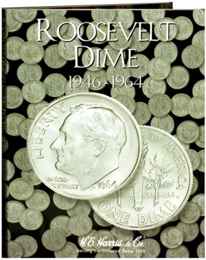 HE Harris Coin Folder Roosevelt Dime No. 1, 1946-1964 HECF2684