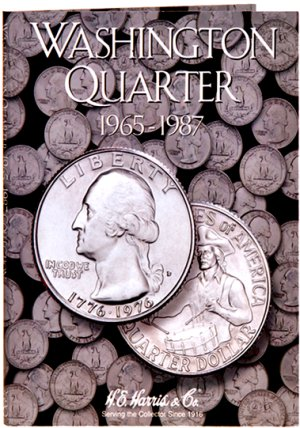 """HE Harris Coin Folder Washington Quarters No. 3, 1965-1987"" HECF2690"