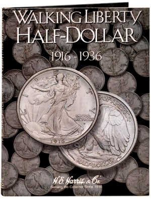 """HE Harris Coin Folder Walking Liberty Half Dollar No. 1, 1916-1936"" HECF2693"