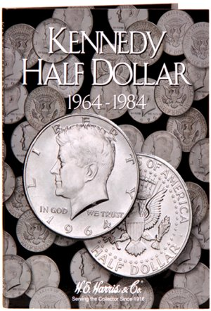 HE Harris Coin Folder Kennedy Half Dollar No. 1, 1964-1984 HECF2696