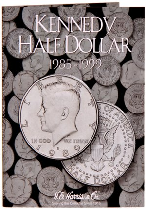 """HE Harris Coin Folder Kennedy Half Dollar No. 2, 1985 - 1999"" HECF2697"