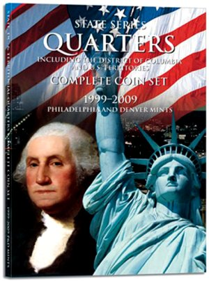 HE Harris Coin Folder State/DC/Terr 7x9 Quarter Folder 1999-2009 PD HECF2841