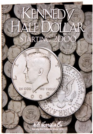 """HE Harris Coin Folder Kennedy Half Dollar No. 3, 2000-2005"" HECF2942"