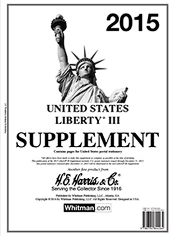 H.E.Harris U.S. Liberty 3 2015 Supplement (Currently the last year issued) HELIB315
