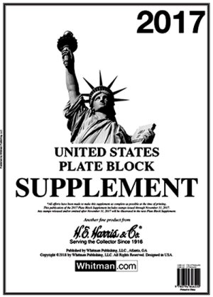 H.E.Harris U.S. Plate Block 2017 Supplement HEUSPB17