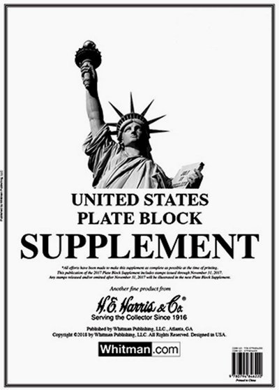 H.E.Harris U.S. Plate Block 2016 Supplement HEUSPB16