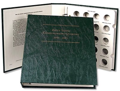 Littleton Statehood Quarter Album No. 1, 4 coins per State 1999-2003 LCA17