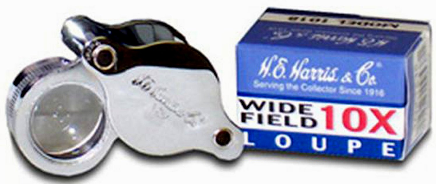 Harris 1018 10 Power wide field loupe chrome case  <p><B>*TEMPORARILY OUT OF STOCK*<B><p> Mag1018