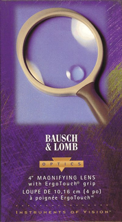 Bausch and Lomb  4 inch hand held magnifier - No. 813304.  MagBL4