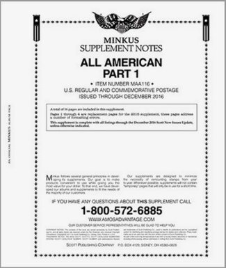 MINKUS All-American Part 1 (USA Regular  Commems) 2017 MKALLAM117