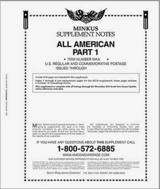 MINKUS All-American Part 1 (USA Regular  Commems) 2016  MKALLAM116