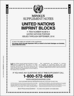 MINKUS UNITED NATIONS IMPRINT BLOCKS 2016 MKUNIB16