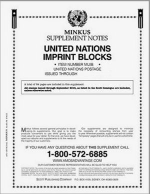 MINKUS UNITED NATIONS IMPRINT BLOCKS 2015  MKUNIB15