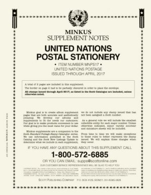MINKUS UNITED NATIONS POSTAL STATIONERY 2018 MKUNPS18