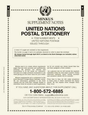 MINKUS UNITED NATIONS POSTAL STATIONERY 2016 MKUNPS16