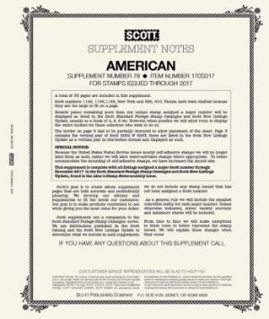 Scott US AMERICAN Supplement 2018 SCAM18