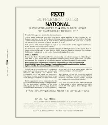 Scott US NATIONAL Supplement 2018 SCUSNAT18