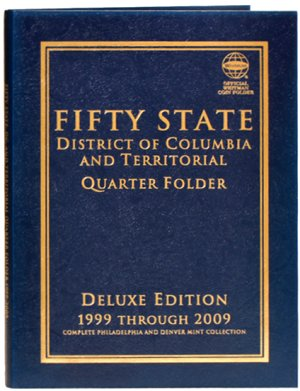 Whitman Deluxe 50 Statehood, DC,  Territory Quarters, 1999-2009  PD  #WH80783