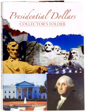 Whitman Presidential Dollar Collector's Folder 7x9, 4 Panel 2007-2016, 44 openings  WH821790